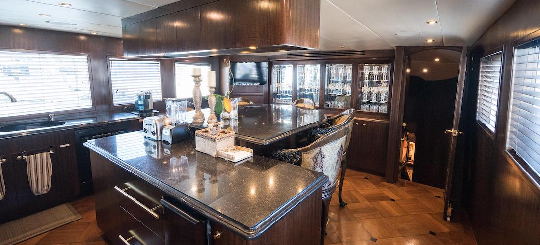 Hatteras Yacht Sunday Money For Sale Galley