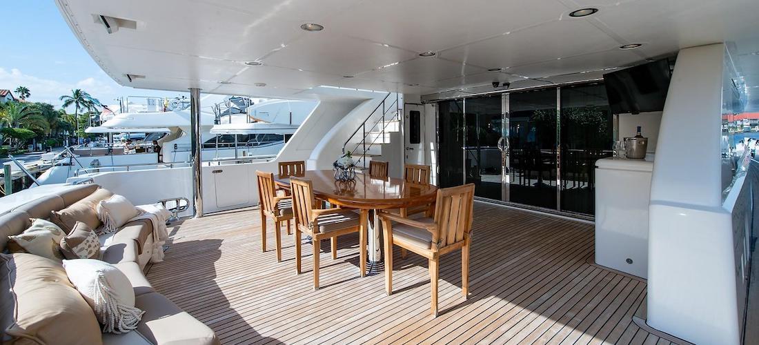 107 President Yacht D-FENCE Aft Deck