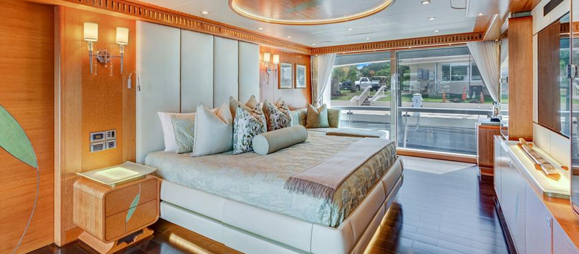 SERENITY, a 133' IAG motoryacht master stateroom