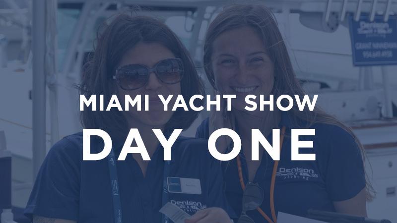 miami boat show day 1