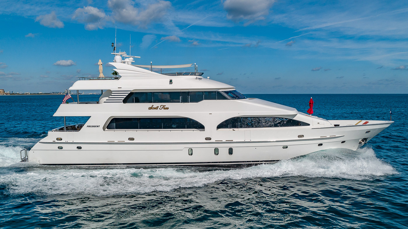 Luxury Yacht Charter: SCOTT FREE | 114' President 2008/2019 - photo 12
