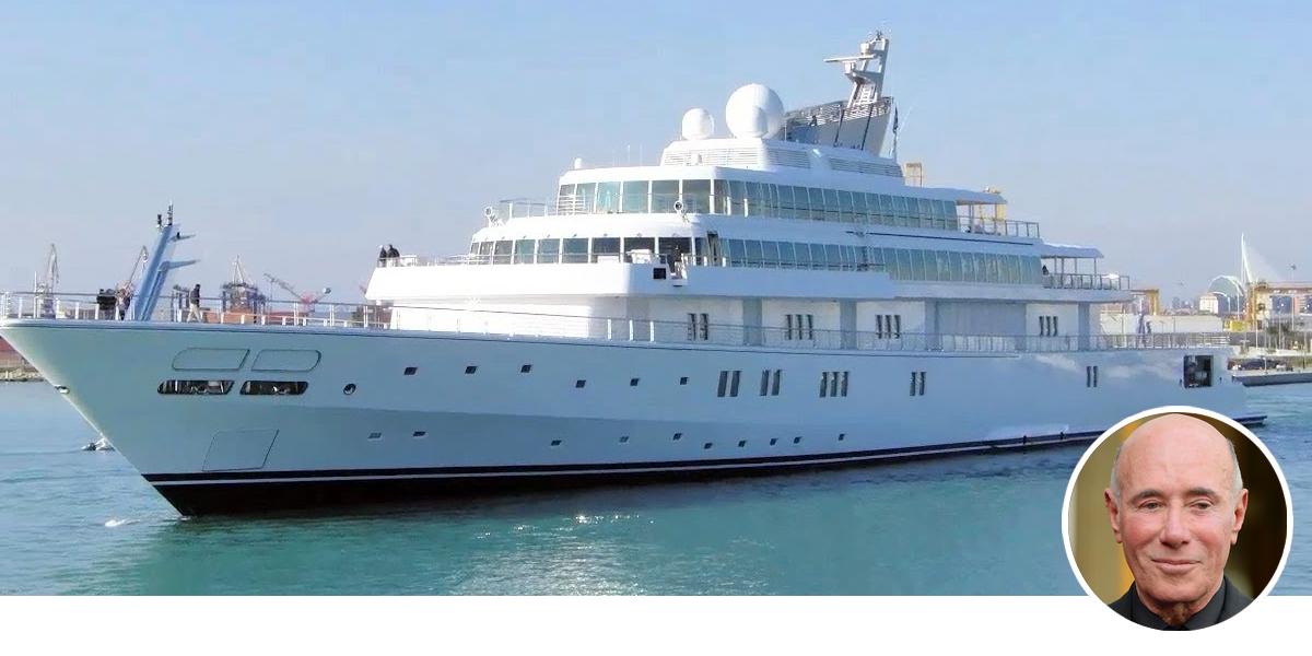 David Geffen and Rising Sun yacht